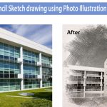 Pencil sketch drawing effects using Photoshop illustration services